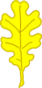 Yellow Oak Leaf Clip Art