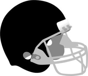 Black And Gray Helmet Clip Art
