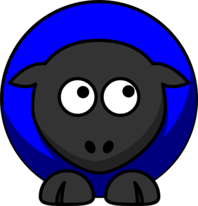 Blue Sheep Up Clip Art