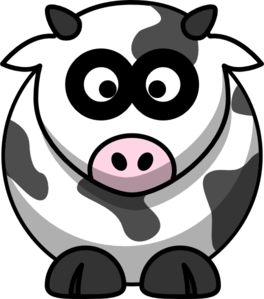 Brown And White Cartoon Cow Clip Art