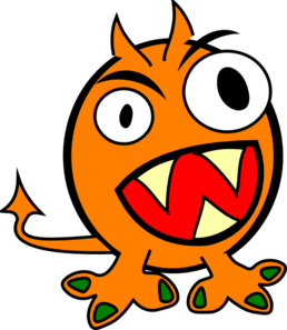 orange monster clip art at clker com vector clip art online rh clker com monster clip art cute monster clip art free
