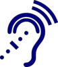 Hearing Assistive Technology - Blue Icon Clip Art