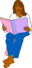Woman Reading Baby Book Clip Art