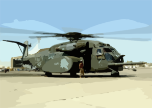 An Mh-53e  Sea Dragon  Helicopter From Hm-14 Clip Art