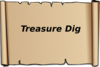 Treasure Dig Sign Clip Art