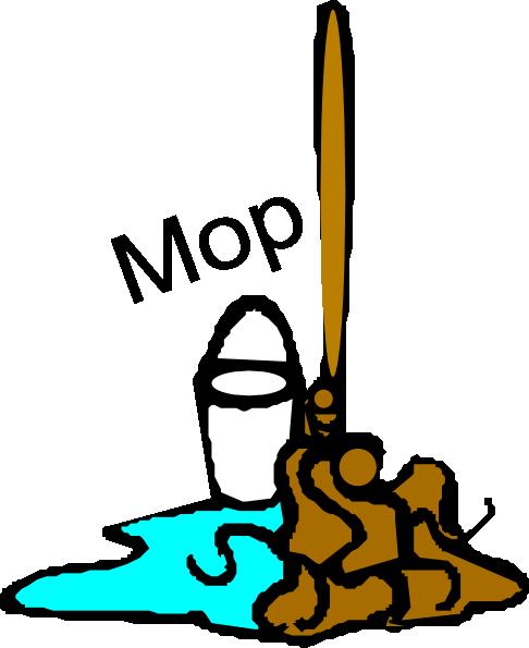 Chore: Mop Clip Art at Clker.com - vector clip art online, royalty ...