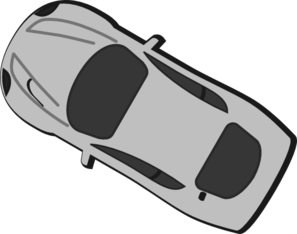 Gray Car - Top View - 150 Clip Art