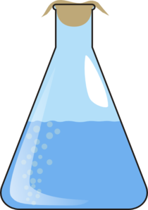 Erlenmeyer Full Of Liquid With Bubbles Clip Art