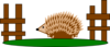 Hedgehog Pen Clip Art
