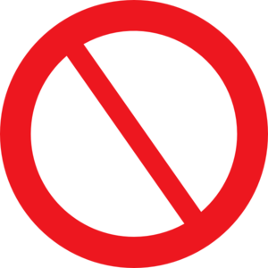 Empty Prohibited Sign Clip Art