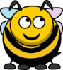 Bee Looking Right-up Clip Art