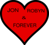Jon And Robyn Heart Clip Art