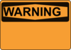 Warning Orange Clip Art