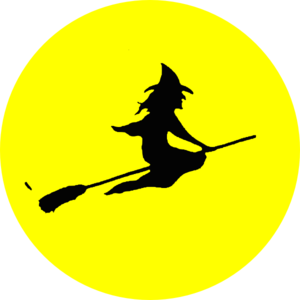 Witch Flying Clip Art