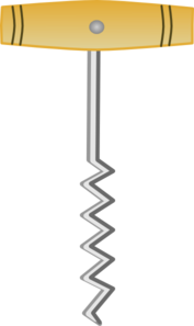 Cork Screw Opener Clip Art