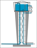 Water Tower With Circulation Clip Art