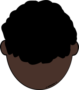 Back Of Dark Skin Man Clip Art