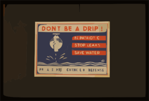Don T Be A Drip! Be Patriotic ... Stop Leaks ... Save Water. Clip Art