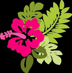 Pink Hibiscus Clip Art At Clkercom Vector Clip Art Online