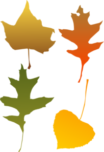 Autumn Leaf Selection Clip Art