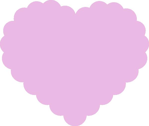Light Pink Heart Transparent Light purple heart clip art