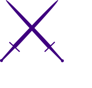 Purple Swords Clip Art