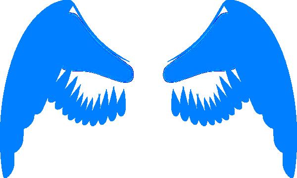 Wings In Blue Clip Art at Clker.com - vector clip art ...