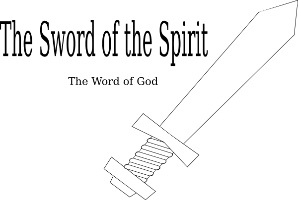 Sword Of The Spirit Template Clip