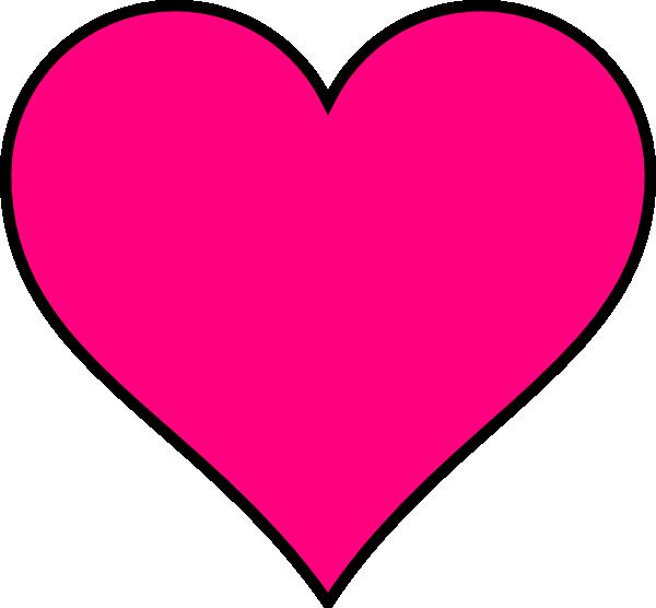 pink heart clip art free. Dark Pink Heart clip art