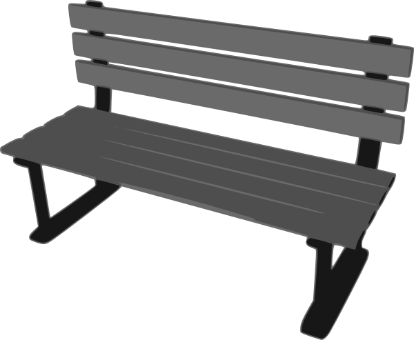 Park Bench clip artPark Bench Clipart Black And White