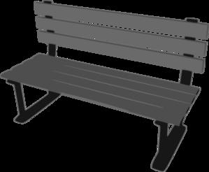 park bench clip art