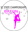 Sc State Twirling Championship  Clip Art