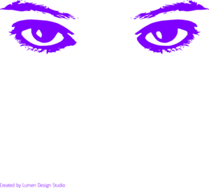 Purple Eyes Clip Art