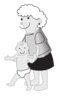 Mother With Infant Clip Art