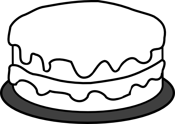 Gallery For gt Cake Black And White Coloring