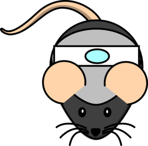 Mouse With Patch Clip Art