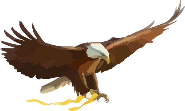 soaring eagle clip art at clker com vector clip art online rh clker com flying eagle clipart png flying eagle wings clipart