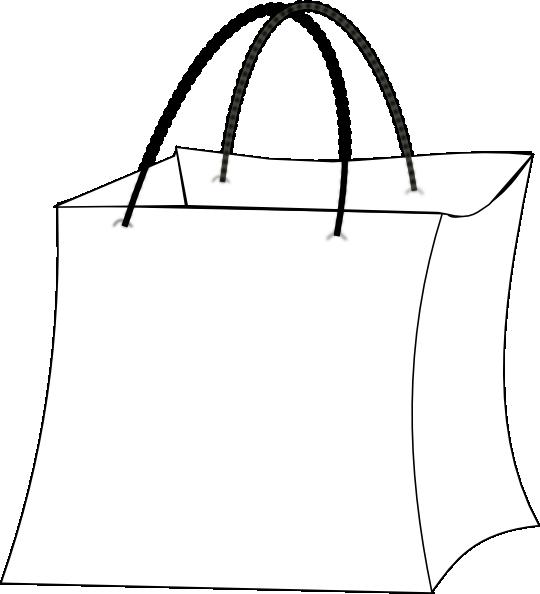 Gift bag outline clip art at clker vector