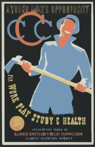 A Young Man S Opportunity For Work, Play, Study & Health  / Bender ; Made By Illinois Wpa Art Project, Chicago. Clip Art