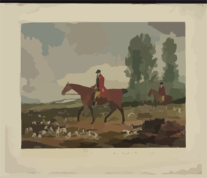 Richard Davis, Huntsman To His Majesty S Harriers, 1789-1812 Clip Art