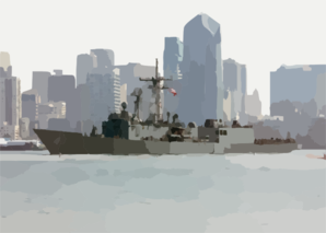 Guided Missile Frigate Uss Thatch (ffg 43) Passes By The San Diego Skyline Clip Art