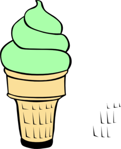 Pistachio Ice Cream Cone Clip Art