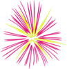 Pink And Yellow Sparks Clip Art