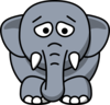 Sad Elephant Clip Art
