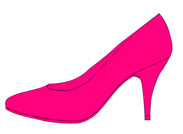 pink shoe clip at clker vector clip