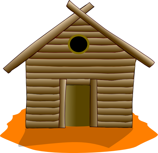 wooden house orange clip art at clker com vector clip log cabin clip art for cnc routing log cabin clip art black and white