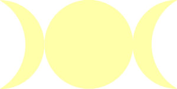 Triple Goddess Symbol Waxing Crescent Full Moon Waning Crescent