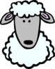 Sheep Head Template Clip Art