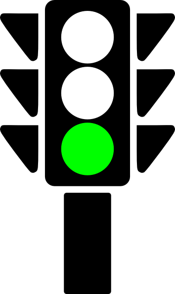 clipart traffic light green - photo #6