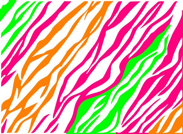 Green Zebra Print Pink, Green, Orange Ze...